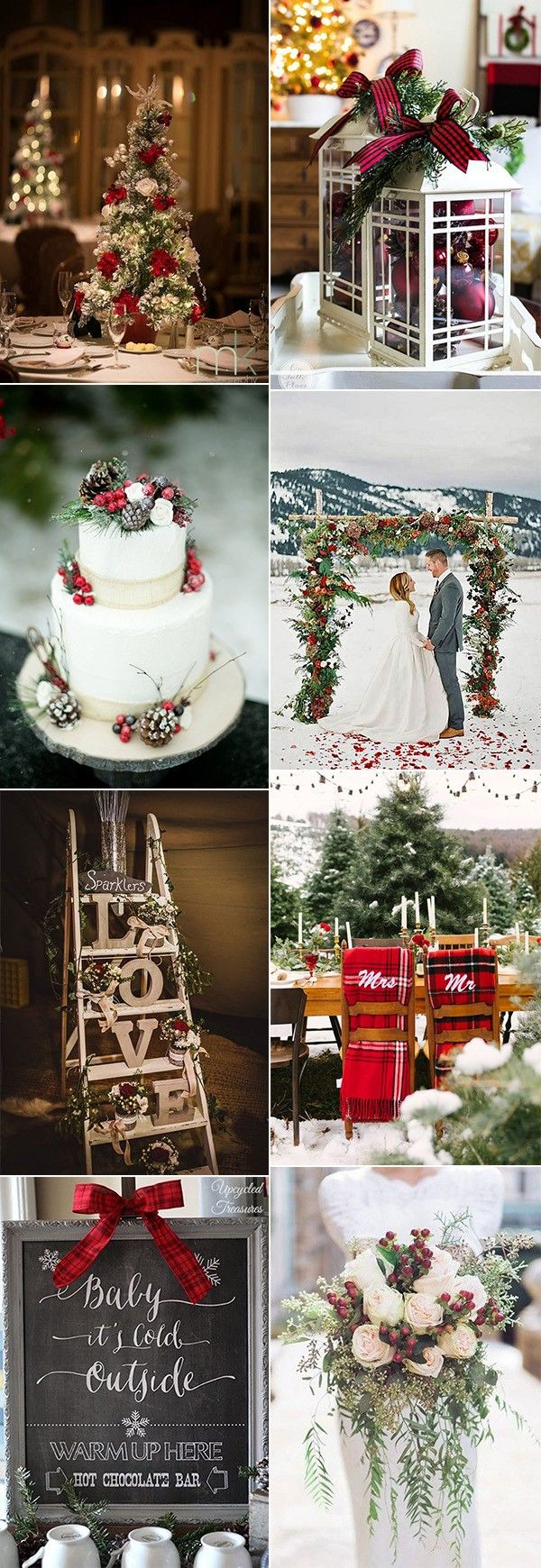 18 Stunning Christmas Themed Winter Wedding Ideas – Wedding Ideas