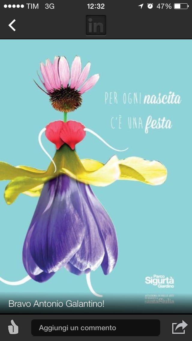 Primo posto, manifesto vincitore per Parco giardino Sigurtá.