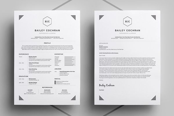 Resume/CV - 'Bailey' on Behance
