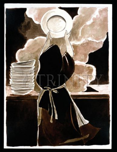 St. Thérèse Doing the Dishes * gasp! * t and i both have st therese, so we'll need two images :)