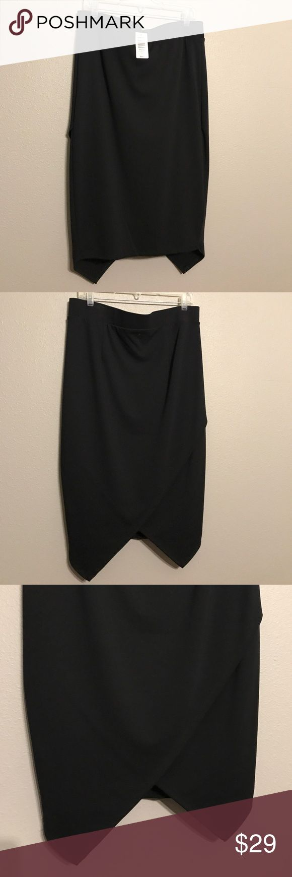 TORRID Black Envelope Skirt Size 1 *New w/ Tags* TORRID Black Envelope Skirt Size 1 *New w/ Tags* TORRID Skirts Midi