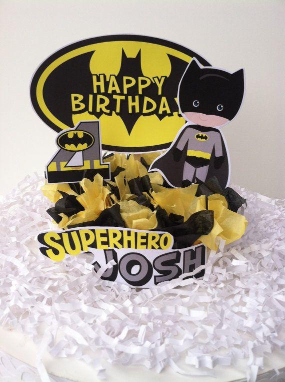 Superhero Batman Cake Topper por BabycakesCakeToppers en Etsy