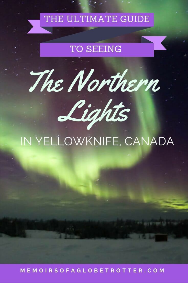 Are you dreaming of seeing the Northern Lights? Yellowknife, Canada is one of the best places in the world to see them due to its northern latitude and high amount of clear dark nights!