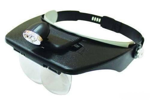 Лупа MG81001-A с креплением на голову и подсветкой