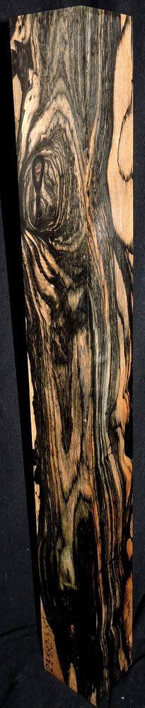Black and White Ebony Wood Lumber 23.5x2.5x2.25 Bass Guitar Building Pool Cues #blackandwhiteebonytimberlumber