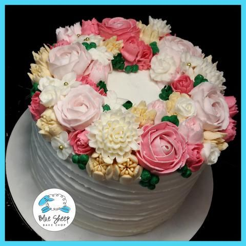 floral_coronet_buttercream_Birthday_cake_nj