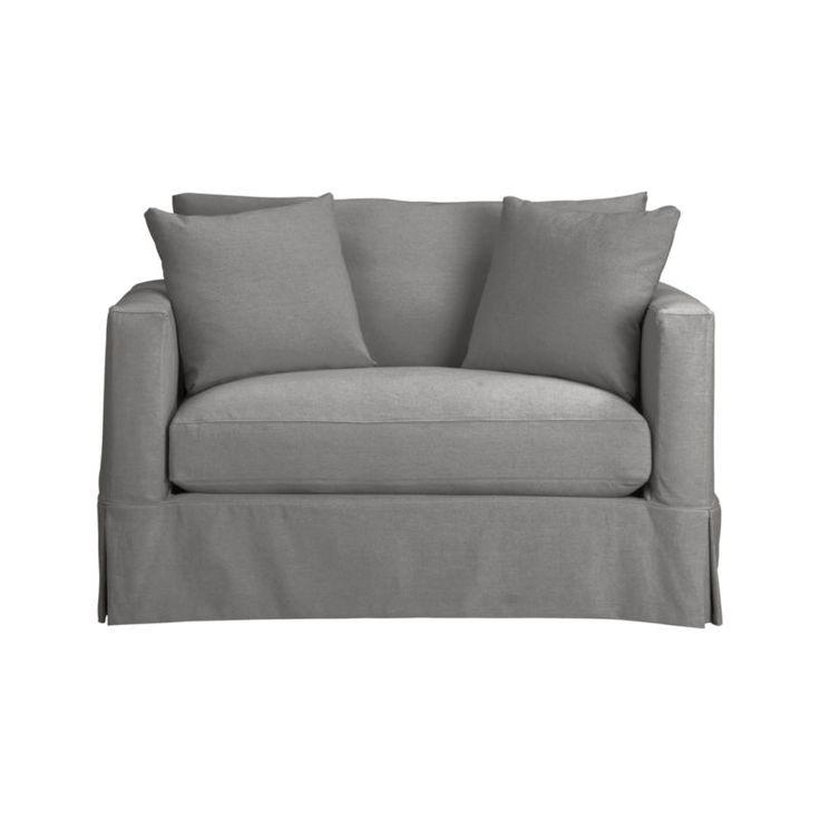 Modern Twin Sleeper Sofa: Willow Modern Slipcovered Twin Sleeper Sofa With Air
