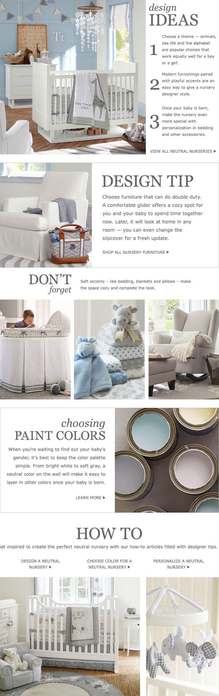 "FPP:""Baby Nursery Themes & Nursery Design | Pottery Barn Kids"" keep it neutral"