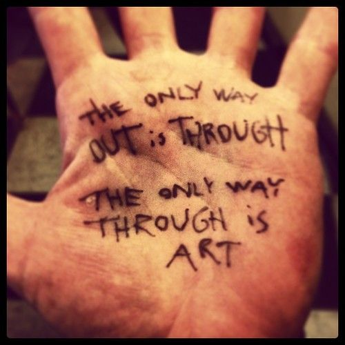 amandapalmer:  the only way out.
