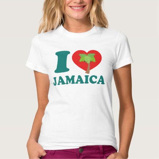 I Love Jamaica Shirt by Carib Love Designs. #ILoveJamaica #Jamaica #Shirts #Female #CaribLoveDesigns #Zazzle