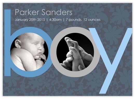 baby boy announcement ideas