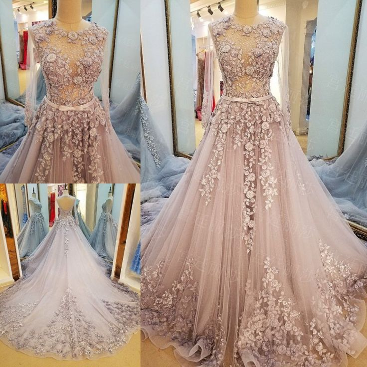 Find More Evening Dresses Information about LS73678 robe de soiree longue lace up back A line tulle long sleeves sexy transparent long formal dress luxury real photos,High Quality dresses design,China dress teenager Suppliers, Cheap dresses ladies from Suzhou Love Season Wedding Dress on Aliexpress.com