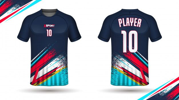 Download Football Shirt Template Premium Vector Premium Vector Freepik Vector Texture Template Fashion Spo Jersey Design Sport Shirt Design Sports Jersey Design