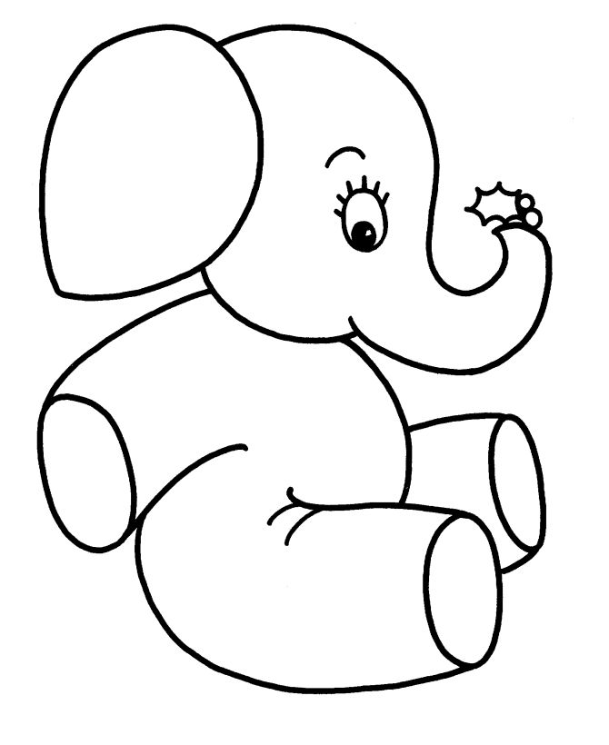 Coloring pages animals coloring pages baby elephant with holly christmas