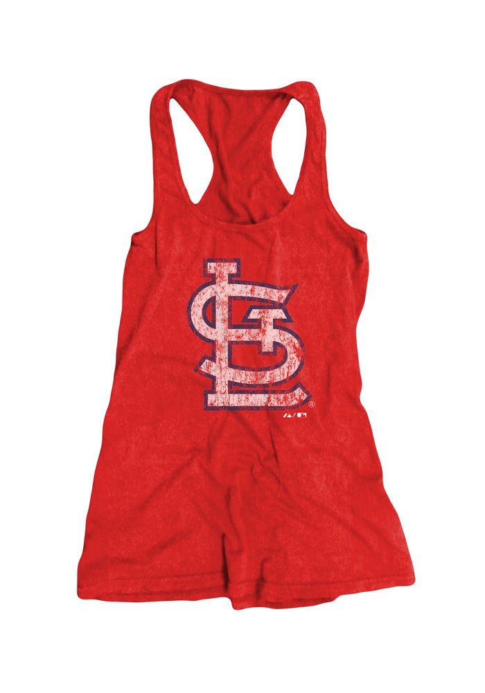 Saint Louis Cardinals Womens Tank Top - Red STL Soft Hand Racerback Sleeveless Shirt http://www.rallyhouse.com/shop/st-louis-cardinals-18240596?utm_source=pinterest&utm_medium=social&utm_campaign=Pinterest-STLCardinals $34.99