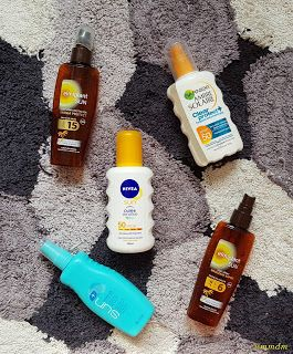 Produse consumate - August 2017 mmdm, beauty, beauty blogger, masutameademachiaj, skin, skincare, hair, haircare, cosmetics, beauty review, august empties, empties, beauty empties, nivea, avon, ambre solaire, garnier, tanning lotion, elmiplant, sun, spray, tanning oil, sun protection, nivea