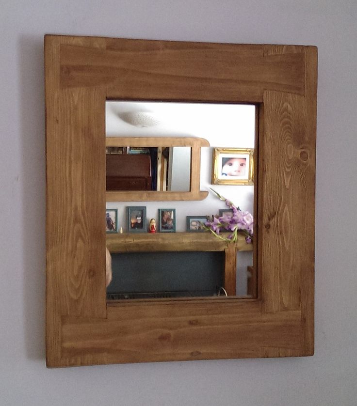 Designed And Handmade From Reclaimed Pine By Marc In Somerset Solid Wood Framed Mirror Approx