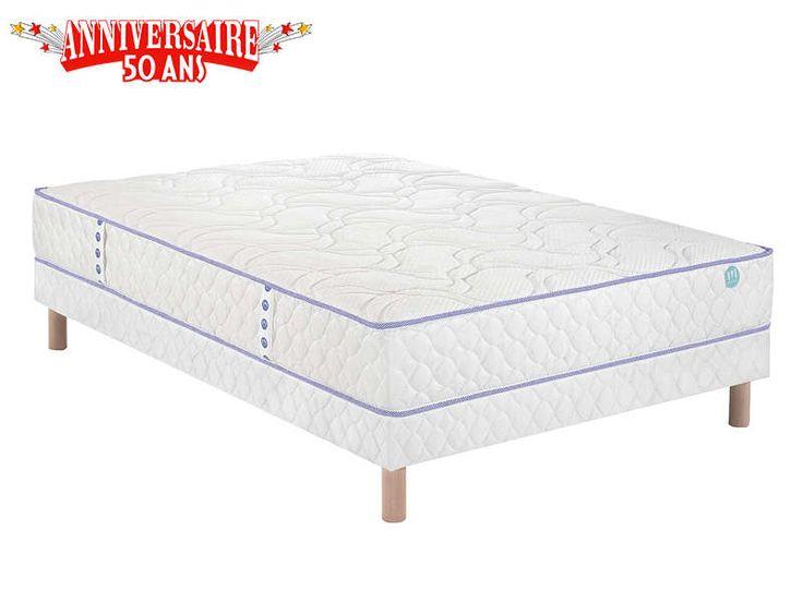 matelas sommier ressorts 140x190 cm merinos duo 2 matelas conforama conforama. Black Bedroom Furniture Sets. Home Design Ideas