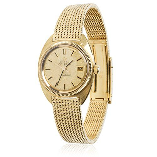 Omega Constellation Vintage 1960s Auto Chronometer Women's Watch in 18K YG (...