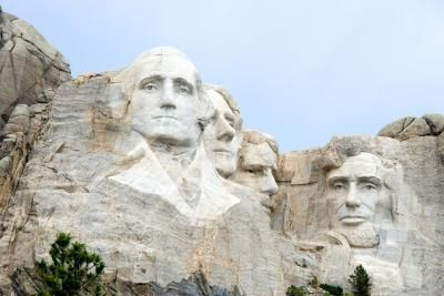 Mount Rushmore, a memorial to four U.S. presidents, is a top attraction in South Dakota.