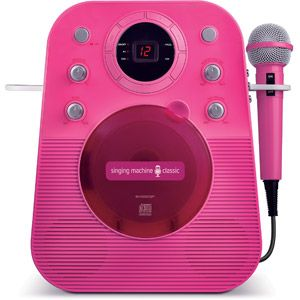 Singing Machine SMG303P Portable Mini Plug n Play Karaoke CDG Player with Microphone