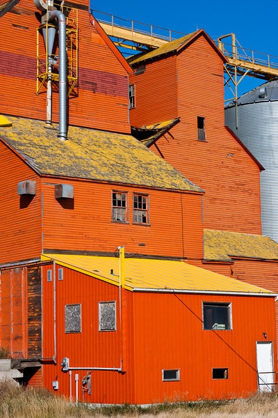Grain elevator in the prairies. I just had to add this as it is just so impressive and the color is incredible.
