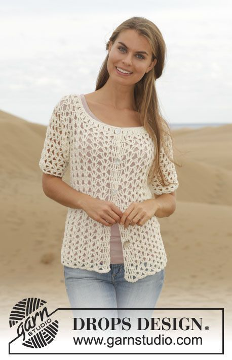 Verano Jacket By DROPS Design - Free Crochet Pattern - (garnstudio):