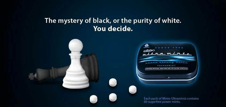 The mystery of Black, or the purity of White.You decide.