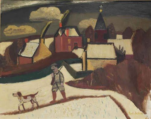 Gustave de Smet, A hunter in the snow