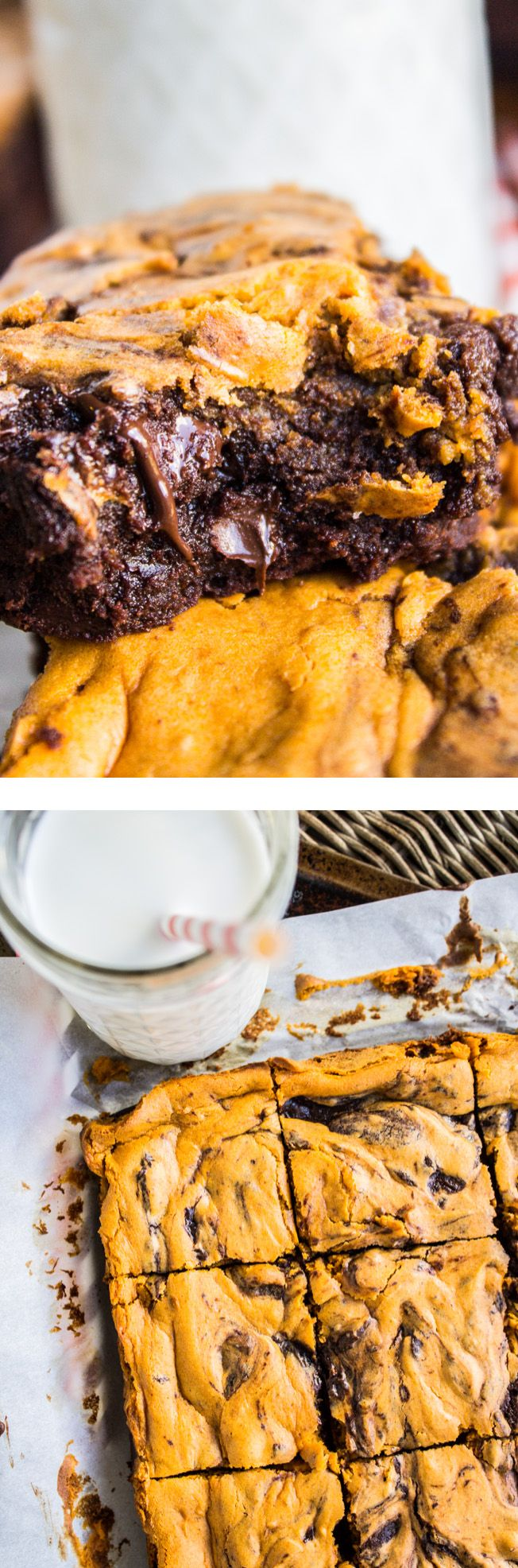 Pumpkin Cream Cheese Swirl Brownies from The Food Charlatan // These are so decadent! Perfect treat for Halloween.