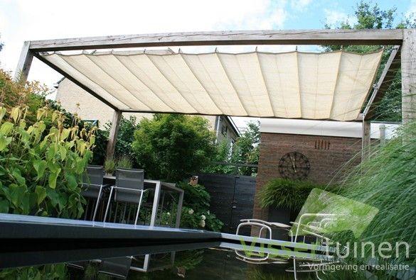 Moderne achtertuin pergola pinterest pergolas verandas and gardens - Pergola met intrekbaar canvas ...