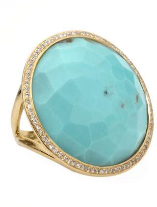 €3,425, Bague turquoise Ippolita. De Neiman Marcus. Cliquez ici pour plus d'informations: https://lookastic.com/women/shop_items/34454/redirect