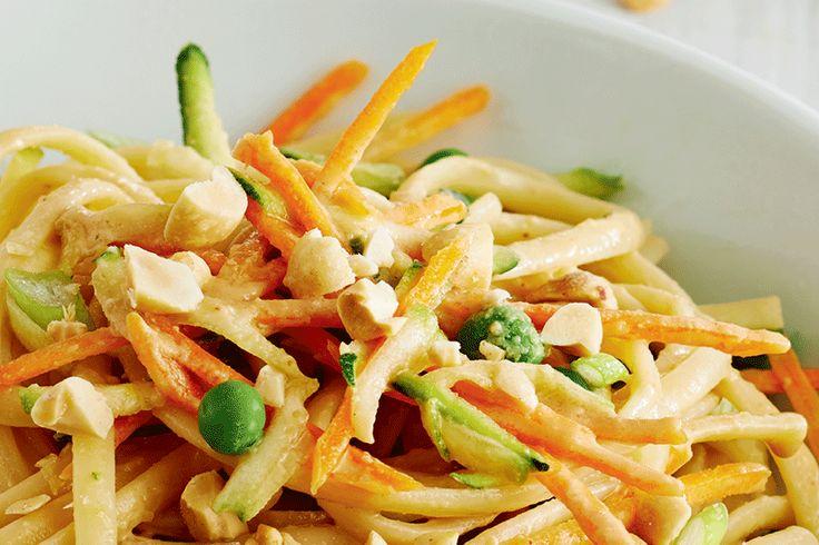 Crunchy Peanut and Veggie Noodle Salad
