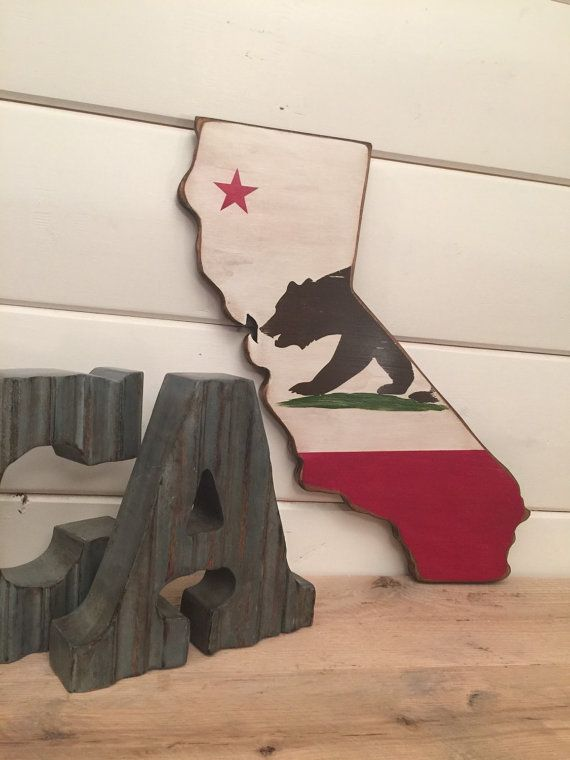 California Flag Rustic/Stressed