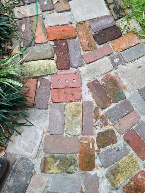 Antique Brick Path Home Design Ideas