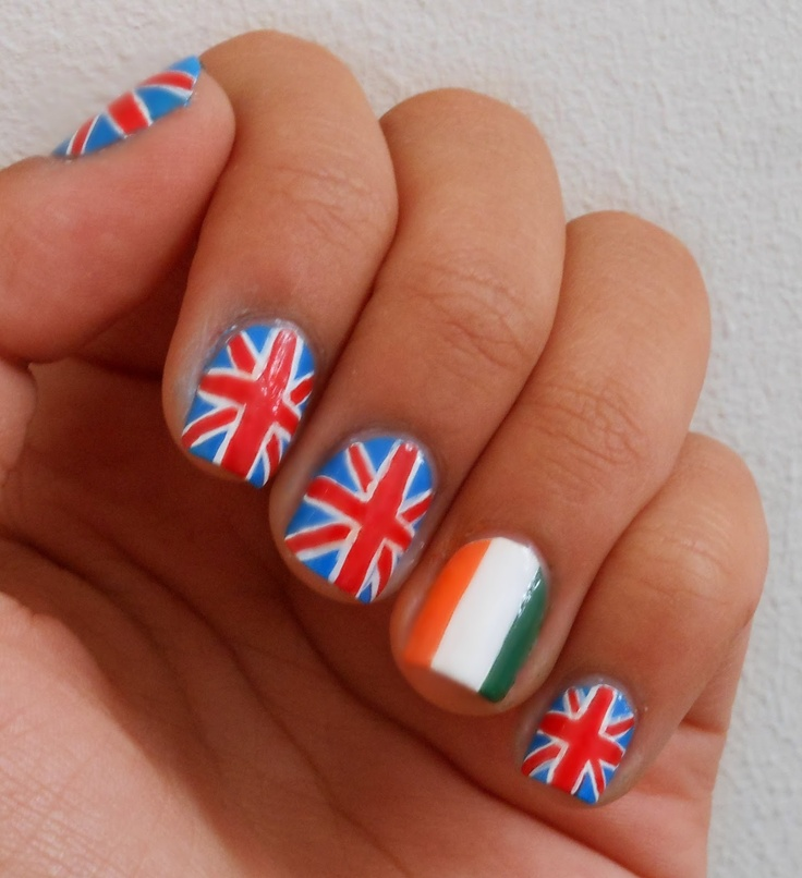 one direction nails-haha gonna try these for the concert, we'll see how well that goes :)