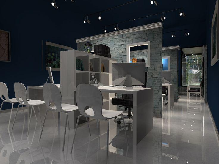 Office 3D Model - Created by Robert De Jesus Perez using TurboFloorPlan 3D Home and Landscape Pro v16 in combination with TurboCAD v20   | #CAD #Software, #Design, #Drafting, #Rendering, #3D #Model, #Office, #Interior #Design, #Floorplan