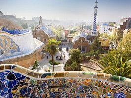 Barcelona, Spain: Antony Gaudi, Favorite Places, Parks Güell, Parks Guell, Gaudi Parks, Parc Güell, Barcelona Spain, Antonio Gaudi, Travel Heart