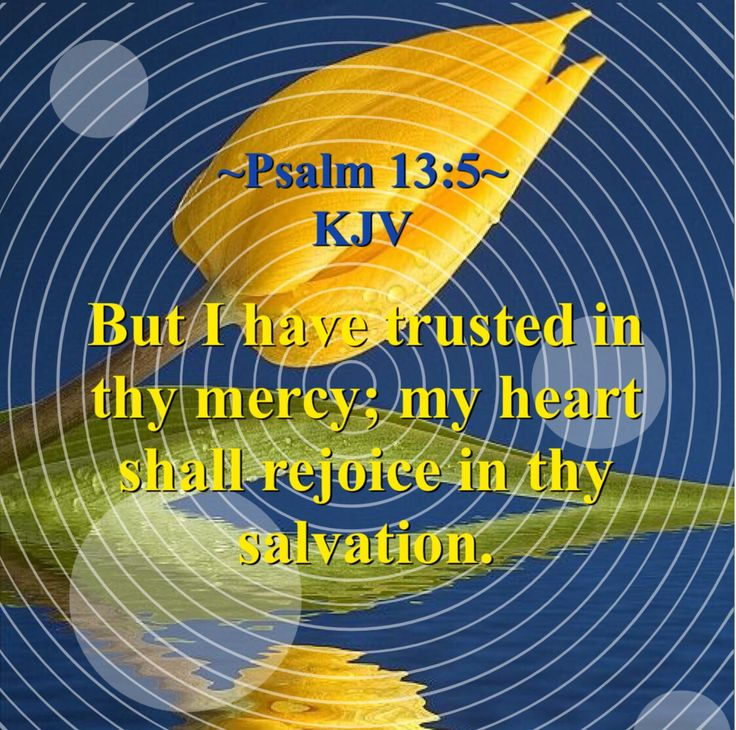 But I have trusted in thy mercy; my heart shall rejoice in thy salvation. ~Psalm 13:5~ KJV