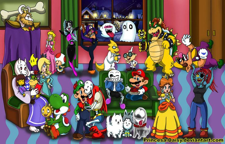 Mario meets Undertale by Princesa-Daisy on DeviantArt