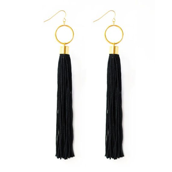 Super lightweight Bohemian Statement Earrings, you'll forget you have these on, but you'll be reminded by all the compliments you'll get! Wear this pair of Tassel Earrings as a statement piece with a