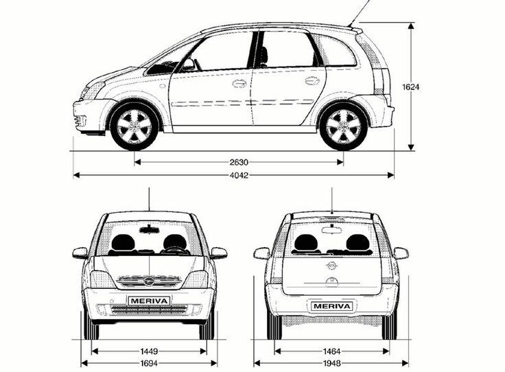Opel Meriva A 2003 blueprint