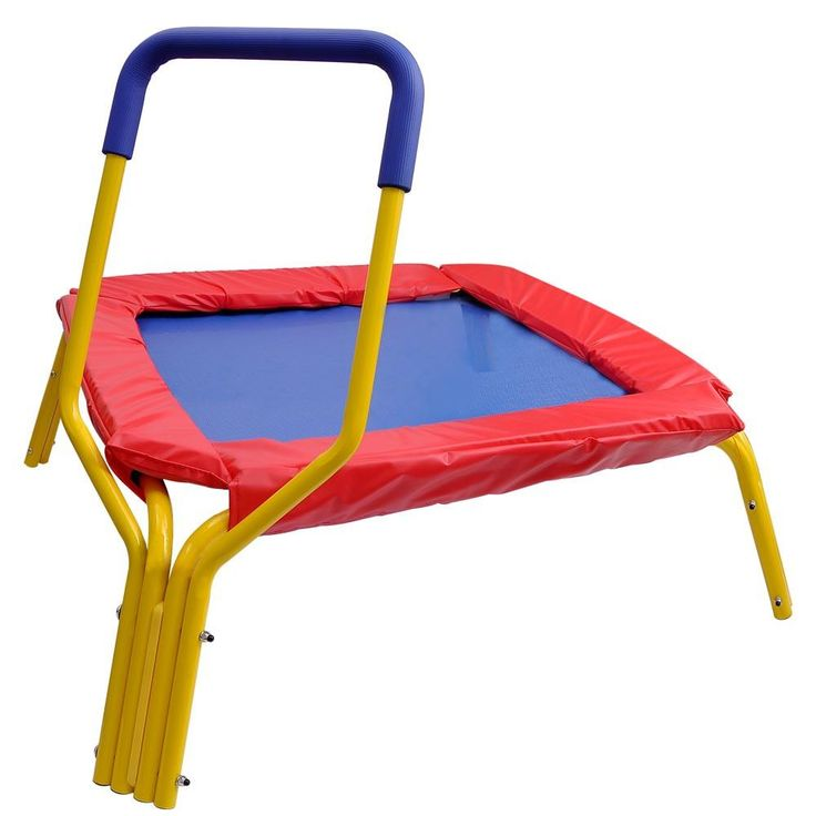 """34"""" Mini Exercise Kids Trampoline with Handle & Pad"""