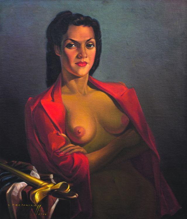 Vladimir Tretchikoff, Red Jacket, 1943. Image courtesy of Bonhams Fine Art Auctioneers & Valuers, London