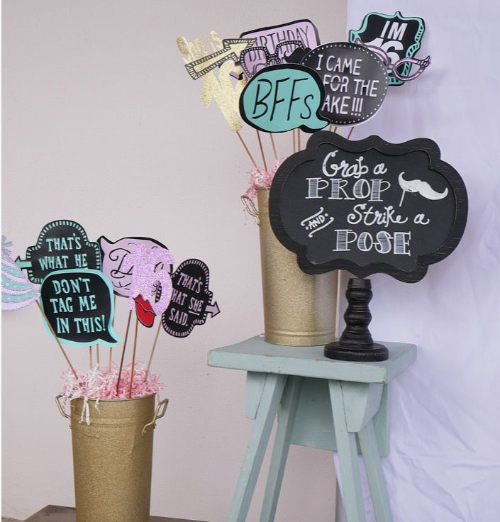 Sweet 16,sweet 16 Photo Booth Props,sweet Sixteen,sweet Sixteen Party Ideas