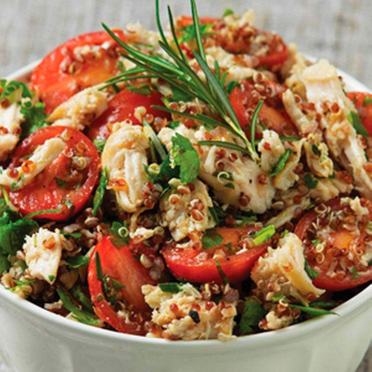 Kipsalade met quinoa