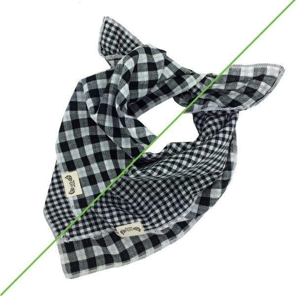 zwarte honden bandana