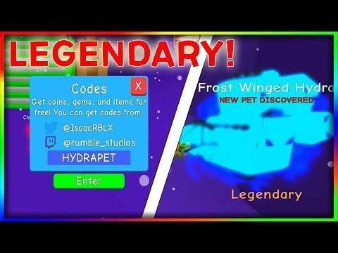 NEW LEGENDARY FROST HYDRA CODE + NEW EGGS AND LAYER! - Bubble Gum