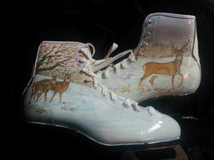 Painted skates