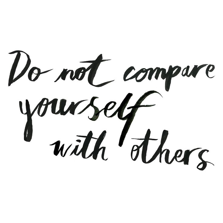 Do not compare yourself with others. www.oddmolly.com